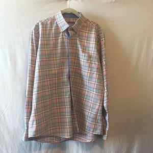 ALEX CANNON Men's Plaid Check Dress Shirt Large